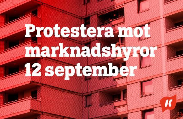Protestera mot marknadshyror 12 september