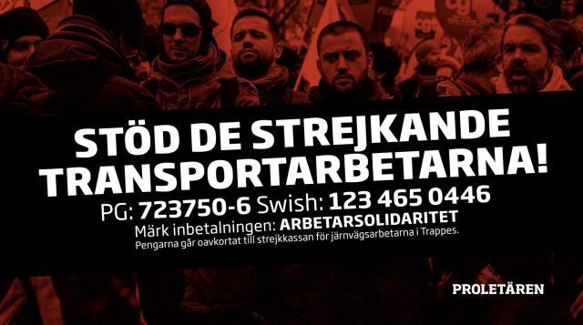 Kommunisterna samlar in pengar till strejkande transportarbetare.