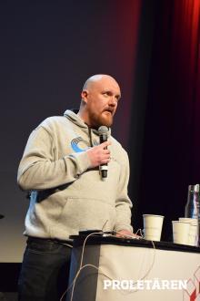 Erik Helgesson, Hamnarbetarförbundet. Foto: Artur Szandrowski/Proletären