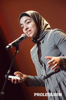 Sara Garib, poet. Foto: Artur Szandrowski/Proletären