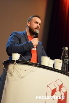Kristoffer Lundberg, Hyresgästföreningen. Foto: Artur Szandrowski/Proletären
