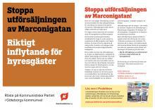 Flygblad från Kommunistiska Partiets Västerförening