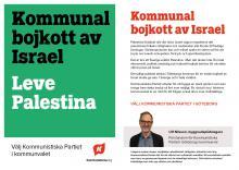 Flygblad om kommunal bojkott av Israel