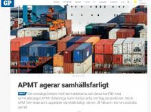 Ulf Nilsson i GP: APMT agerar samhällsfarligt