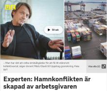 Mats Glavå, docent i arbetsrätt, menar att konflikten är skapad av arbetsgivaren